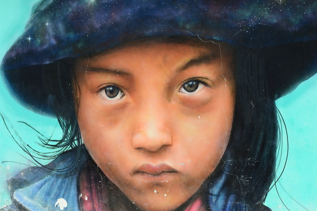 Mural of a Holbox girl